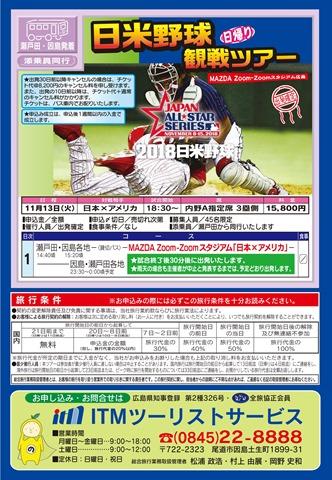 日米野球チラシA4
